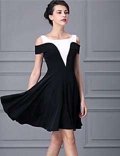 Baoyan® Damen V-Ausschnitt Ärmellos Über dem Knie Kleid-160336