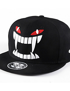 Fashion Men Women Big Tooth Monster Embroidery Street Dance Baseball Caps