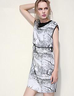 ARNE® Kadın Yuvarlak Yaka Kolsuz Diz Üstü Elbiseler-B040