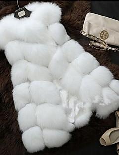 Dames Eenvoudig Herfst Winter Vest,Casual/Dagelijks Effen Ronde hals Mouwloos Lang Katoen