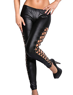 Damen Einfarbig Legging,Polyester Elasthan