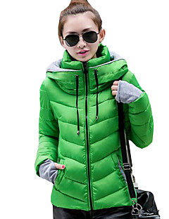 Women's Patchwork Slim Warm Thicken Fashion Padded Coat,Street chic Stand Long Sleeve