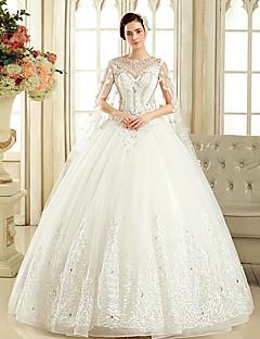Da ballo Abito da sposa Strascico di corte Con decorazione gioiello Tulle con Perline / Cristalli