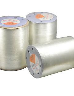 800m / roll elástica linha branca para o cabo de beading jóias esportes peixes diy