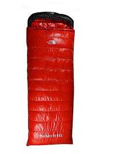 שק שינה שק שינה מלבני יחיד -5 פלומת ברווז 1100g 210X80 צעידה קמפינג עמיד למים להתחמם דחיסה COLD HILL