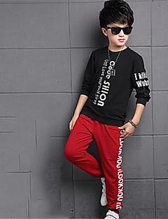 Boy's Casual/Daily Print Clothing SetCotton Spring / Fall Black / Yellow