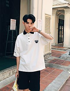 Men's Short Sleeve Polo,Cotton Casual Print