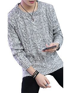 2016 new autumn and winter all-match SWEATER MENS LONG SLEEVED pure Korean pop men tide