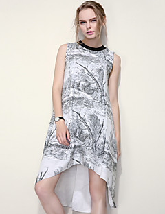 ARNE® Kadın Yuvarlak Yaka Kolsuz Çay Bardağı Şeklinde Elbiseler-B041