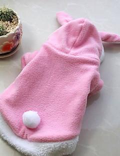 Собаки Костюмы / Инвентарь Красный / Розовый Одежда для собак Зима Однотонный Косплей
