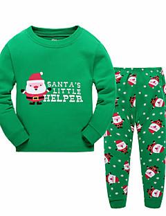 Boy's Casual/Daily Print Clothing SetCotton Winter / Fall Green