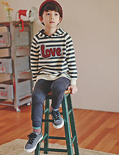 Boy's Casual/Daily Striped Hoodie & SweatshirtCotton Winter / Fall Gray