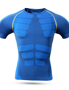 Sports Cycling Jersey Men's Short Sleeve Bike Breathable / Quick Dry / Comfortable Tops Nylon / Chinlon / LYCRA® Classic SummerExercise &