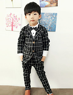 Boy's Casual/Daily Solid Suit & BlazerCotton Spring / Fall Black / Blue / Brown