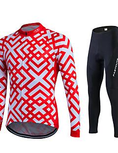 fastcute חולצה וטייץ לרכיבה לנשים לגברים יוניסקס שרוול ארוך אופניים נושם ייבוש מהיר חדירות ללחות 3D לוח תומך זיעהמכנסיים אימונית ג'רזי
