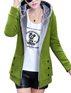 Women's Winter New Fleece Lining Hoodies Long Sleeve Zipper Coat