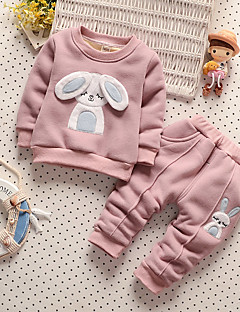 Boy's Casual/Daily Floral Clothing SetPolyester Winter Pink / Yellow / Gray