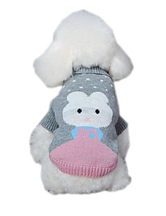 Cute Animals Pattern  Jacquard  Pet Sweather Coat Dog Clothes for Pets Dogs (Assorted Sizes and Colours)