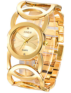 Dame Armbåndsur / Quartz Rustfritt stål Band Armring Elegante klokker Sølv Gylden