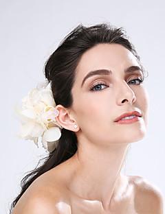 Mulheres Penas Tule Capacete-Casamento Ocasião Especial Flores 1 Peça