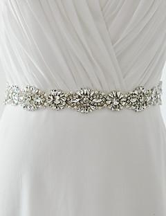 Satin Wedding / Party/ Evening / Dailywear Sash - Beading / Pearls / Crystal / Rhinestone Women's Sashes