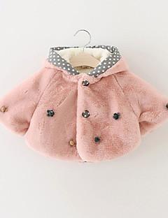 Girl's Casual/Daily Polka Dot BlouseRabbit Fur Winter / Spring / Fall Pink / White