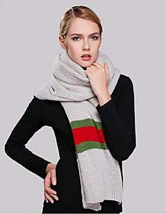 Damen Freizeit Acryl Schal,Quadratisch Gestreift Winter Grau