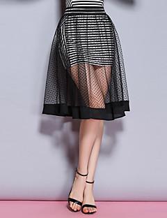 Damen Röcke - Anspruchsvoll Midi Polyester Unelastisch