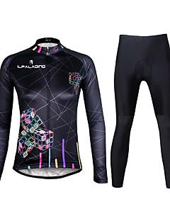 ILPALADINO Calça com Camisa para Ciclismo Mulheres Manga Longa Moto Conjuntos de Roupas Secagem Rápida Resistente Raios Ultravioleta