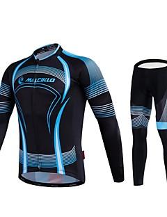 MALCIKLO® Calça com Camisa para Ciclismo Homens Manga Comprida MotoRespirável / Secagem Rápida / Zíper Frontal / Vestível / Alta