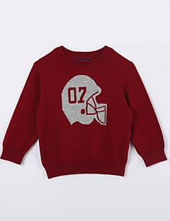 Mädchen Pullover & Cardigan-Lässig/Alltäglich einfarbig Baumwolle Herbst Rot