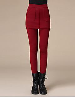 Feminin Culori Mate Căptușit cu Lână Legging,Polyester