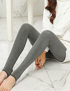 Feminino Flanelada Legging,Poliéster