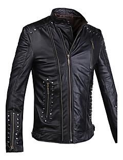 Humiture Men's Black Leather Jacket Biker Large Genuine Real Cowhide Motorcycle 9912