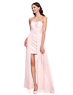 2017 Lanting bride® asymetrické šifon / krajka konvertibilní šaty družička šaty - srdíčko s křídlem