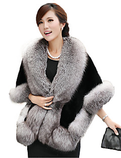Women's Going out / Party/Cocktail Vintage / Sophisticated Regular Cloak / CapesSolid Shawl Lapel Sleeve