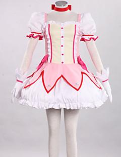 Inspirado por Puella Magi Madoka Magica Madoka Kaname Anime Fantasias de Cosplay Ternos de Cosplay PatchworkSaia Vestido Peça para Cabeça