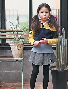 Girl's Going out Solid SkirtPolyester Spring / Fall Gray
