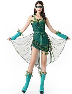Cosplay Kostýmy / Kostým na Večírek Oktoberfest / Upír / Kariéra kostýmy Festival/Svátek Halloweenské kostýmy Zelená JednobarevnéŠaty /