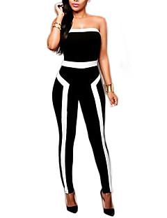 Polyester-Rekbaar-Ondoorzichtig-Vrouwen-Sexy-Jumpsuits-Mouwloos