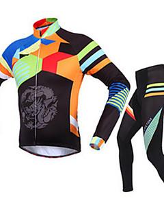 ספורטיבי ג'קט ומגנסיים לרכיבה לגברים שרוול ארוך אופניים נושם / שמור על חום הגוף / נוח מדים בסטים גיזות קלאסי חורףכושר גופני / רכיבה על