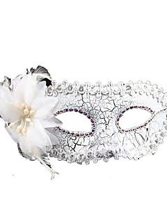 נשף מסכות עזרים ל-Halloween נסיכות אגדה פסטיבל/חג תחפושות ליל כל הקדושים לבן דפוס טלאים מסכה האלווין (ליל כל הקדושים) קרנבל יוניסקס