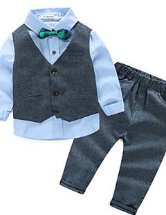 Jungen Anzug & Blazer / Kleidungs Set-Lässig/Alltäglich einfarbig Baumwolle Frühling / Herbst Blau