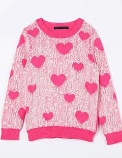 Mädchen Pullover & Cardigan-Lässig/Alltäglich Druck Baumwolle Herbst Rot