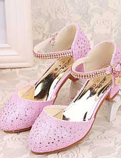Tacchi-Casual-Comoda Light Up Shoes-Quadrato-Lustrini-Blu Rosa Argento