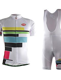 TVSSS לנשים שרוול קצר אופניים לביש חדירות גבוהה לאוויר (מעל 15,000 גרם) נוח דחיסה חומרים קלים 3D לוח בד קל מאוד תומך זיעה מדים בסטיםטרילן