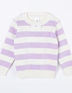 Girl's Casual/Daily Striped Sweater & CardiganCotton Purple