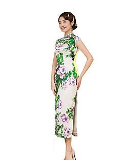 치마 클래식/전통적 롤리타 코스프레 로리타 드레스 빈티지 짧은 소매 긴 길이 에 대한 실크
