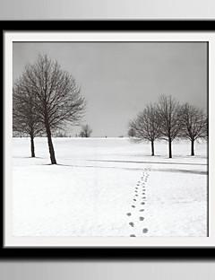 E-HOME® Framed Canvas Art, Snow Scene Framed Canvas Print One Pcs