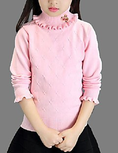 Girl's Casual/Daily Solid Sweater & CardiganCotton Spring / Fall Pink / Purple / White